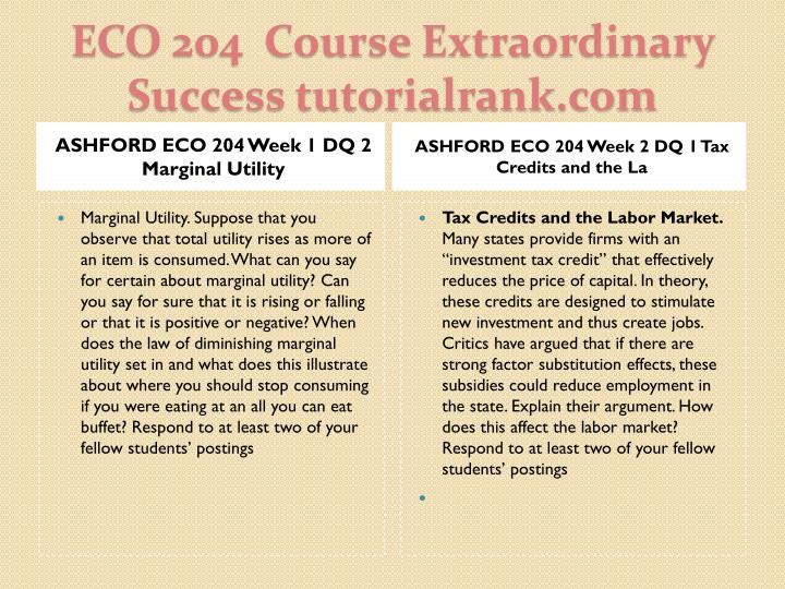 Eco 204 course extraordinary success tutorialrank com2