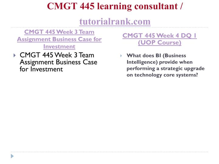 cmgt 445 week4 individual implementation plan Cmgt 445 application implementation and explains your implementation plan the site must include all sections of the plan and related content.