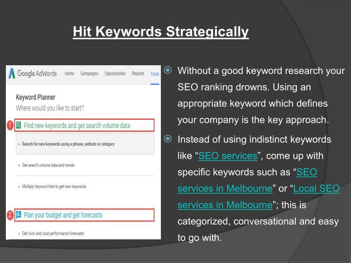 Hit Keywords Strategically