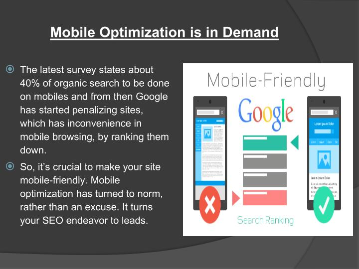 Mobile Optimization is in Demand