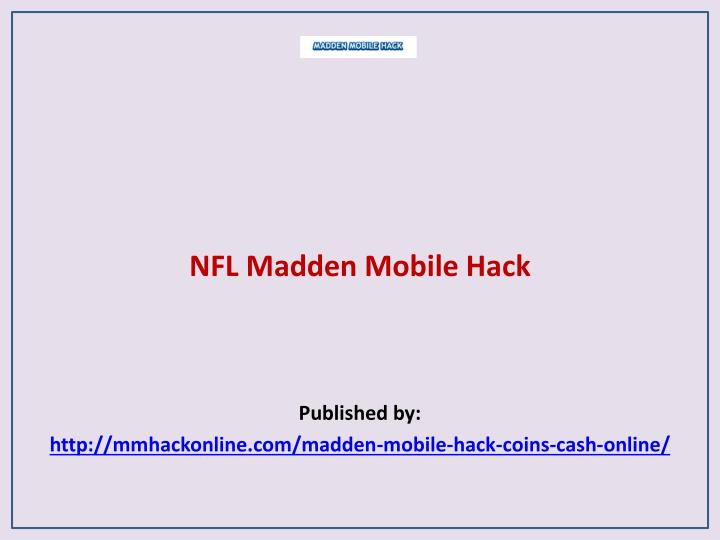 Nfl madden mobile hack published by http mmhackonline com madden mobile hack coins cash online