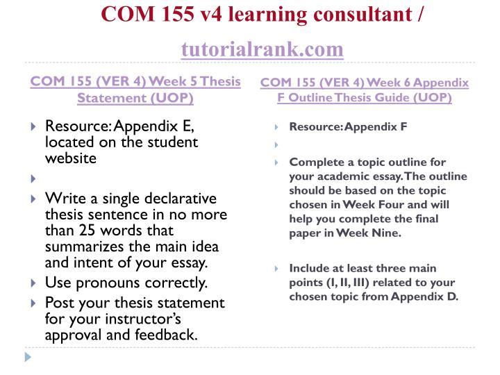 write a single declarative thesis sentence