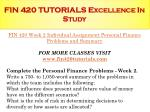 fin 420 tutorials excellence in study6