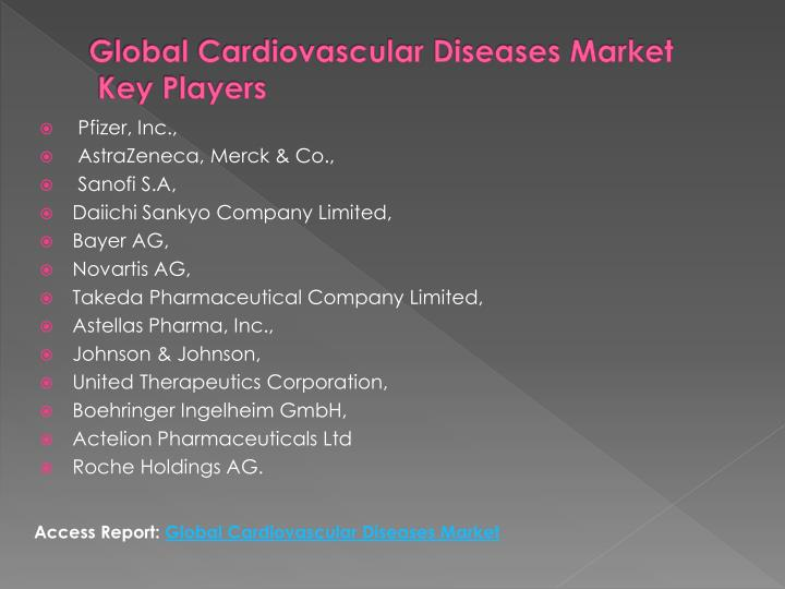Global cardiovascular diseases market key players