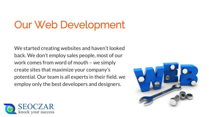 Our web development
