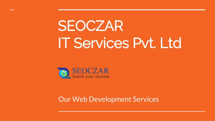Seoczar it services pvt ltd