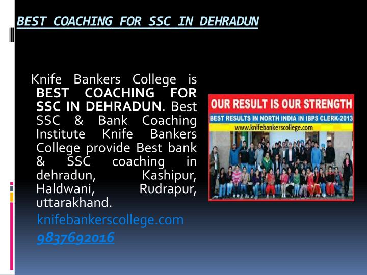 BEST COACHING FOR SSC IN DEHRADUN