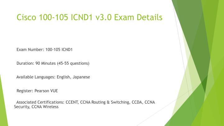 Cisco 100 105 Certification Exam Examcollection