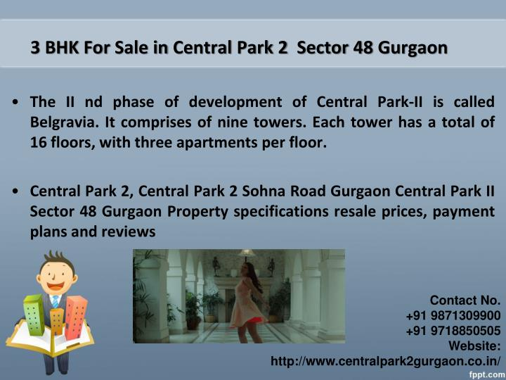 3 bhk for sale in central park 2 sector 48 gurgaon
