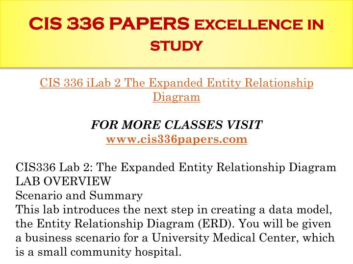 CIS 336 PAPERS excellence
