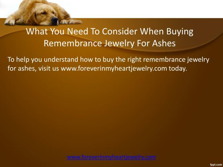 What You Need To Consider When Buying Remembrance
