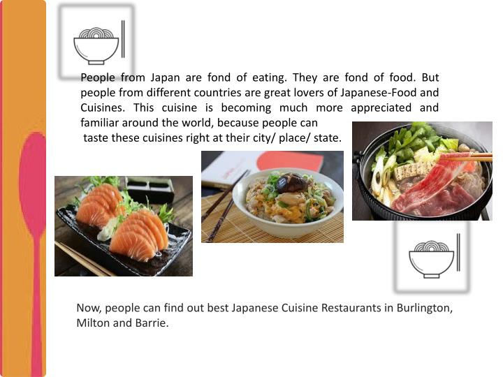 Ppt people love japanese cuisine find restaurant in for Asian cuisine ppt