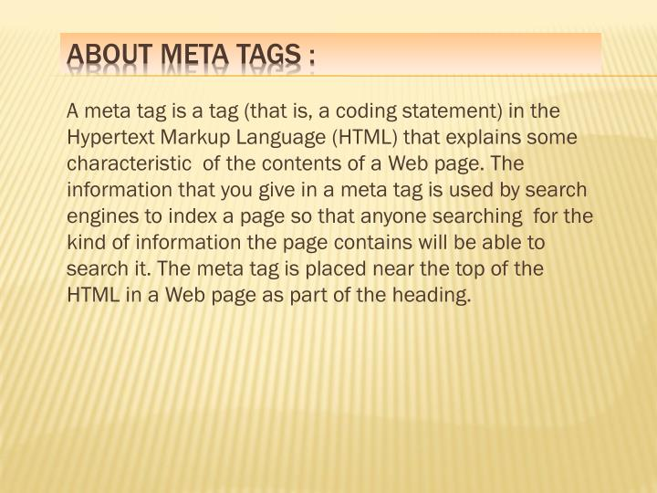 About meta tags