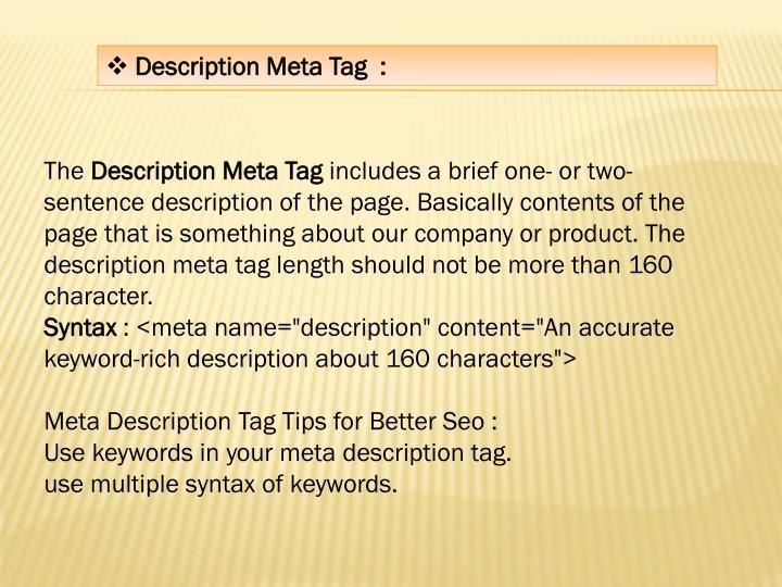 Description Meta