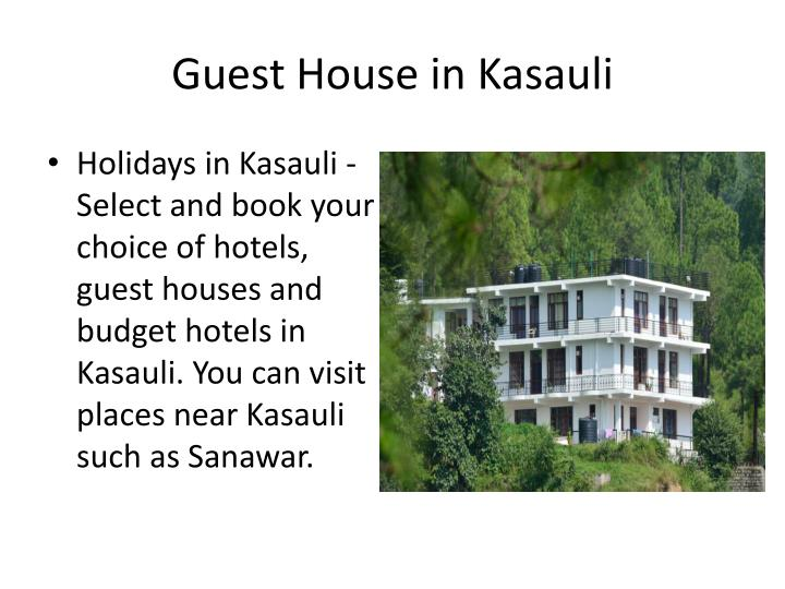 Guest house in kasauli