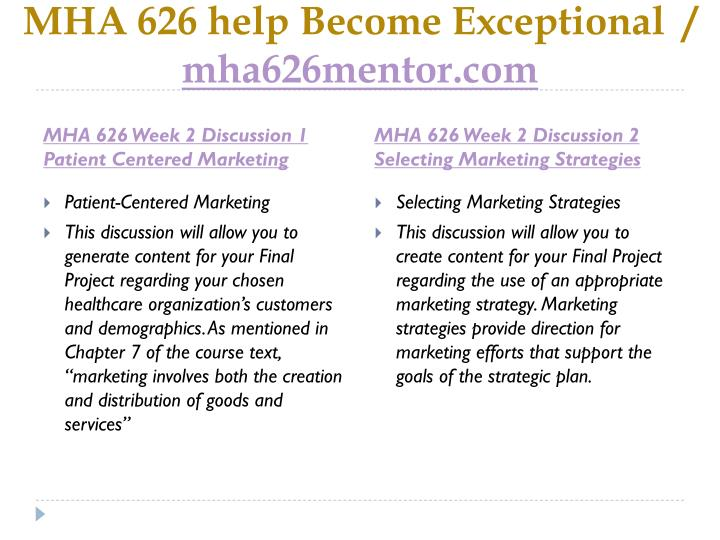 Mha 626 help become exceptional mha626mentor com2