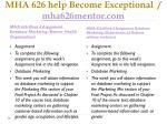 mha 626 help become exceptional mha626mentor com5