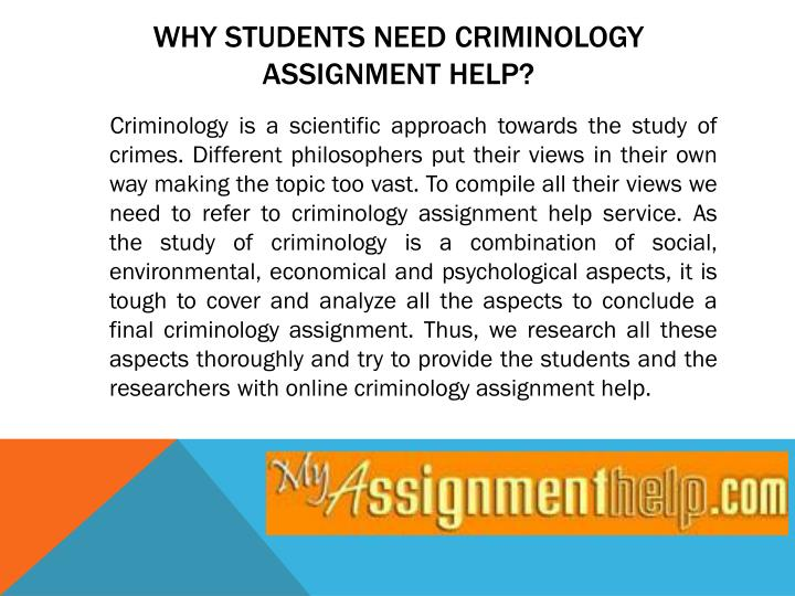 criminology assignment Uni assignment home services the crime prevention process criminology essay within the crime prevention process, criminology theories include crime.