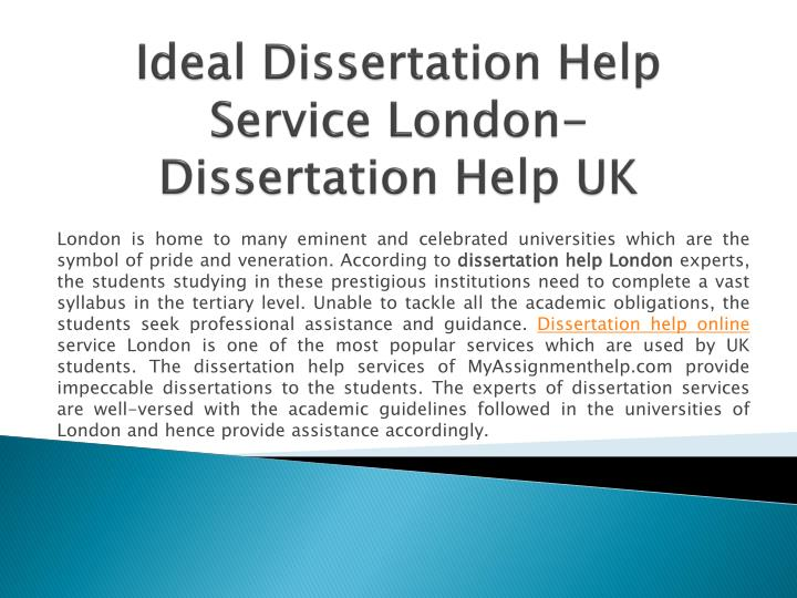 The Best Dissertation Help London Has To Offer