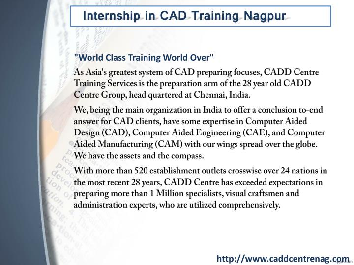 Ppt Internship In Cad Training Nagpur Powerpoint