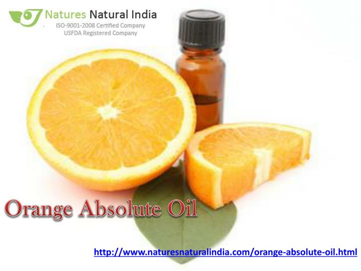 Orange Absolute Oil