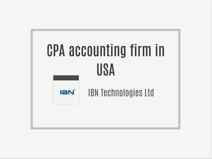 CPA accounting firm in