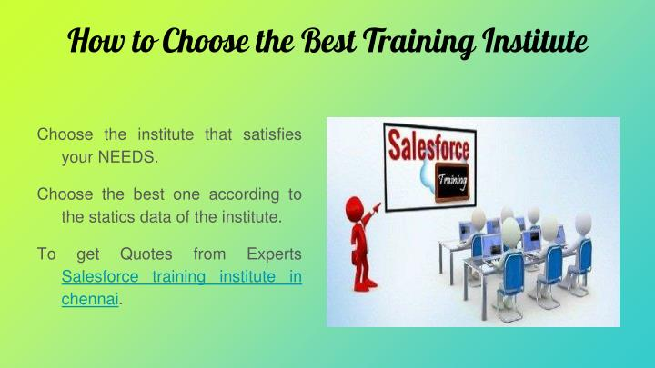 How to Choose the Best Training Institute