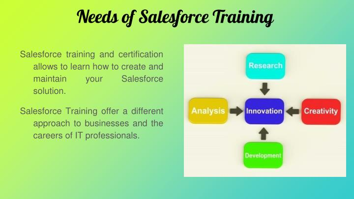 Needs of Salesforce Training