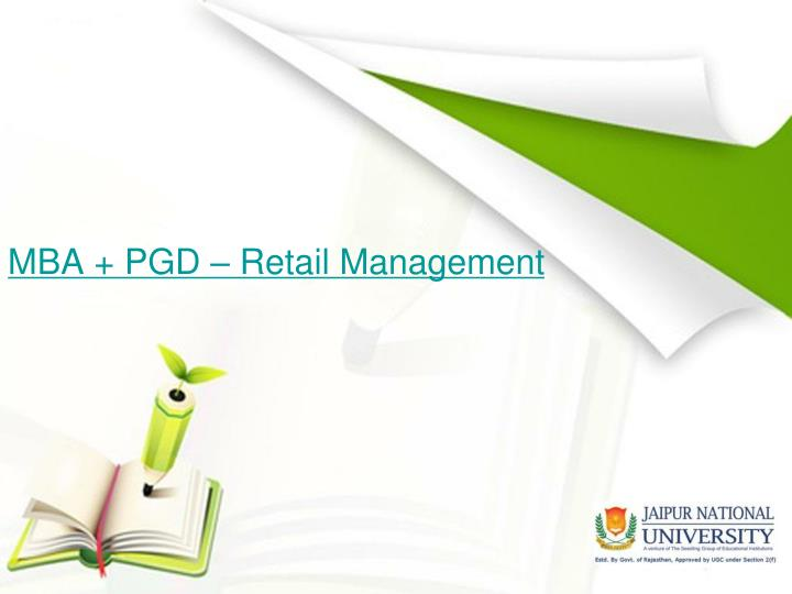 Mba pgd retail management