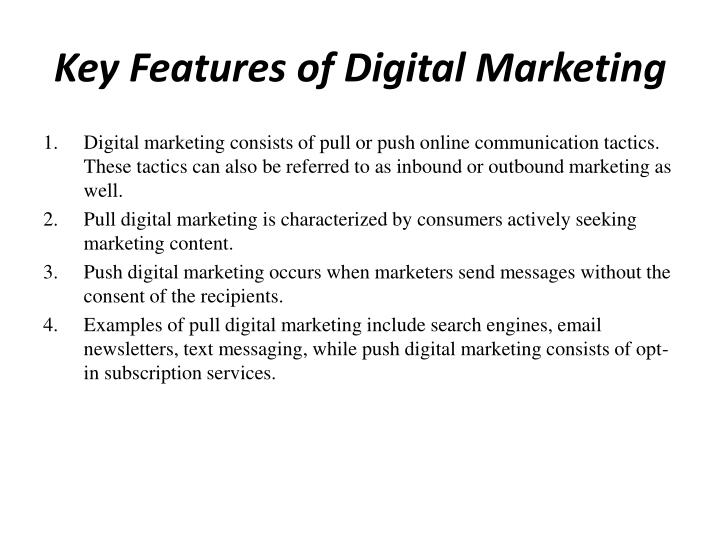 Key Features of Digital Marketing