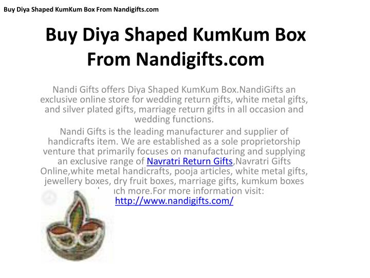 buy diya shaped kumkum box from nandigifts com