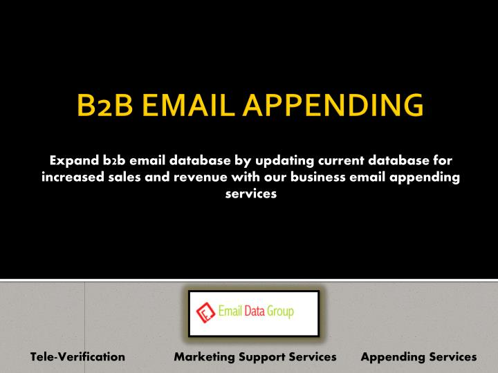 Expand b2b email database by updating current database for