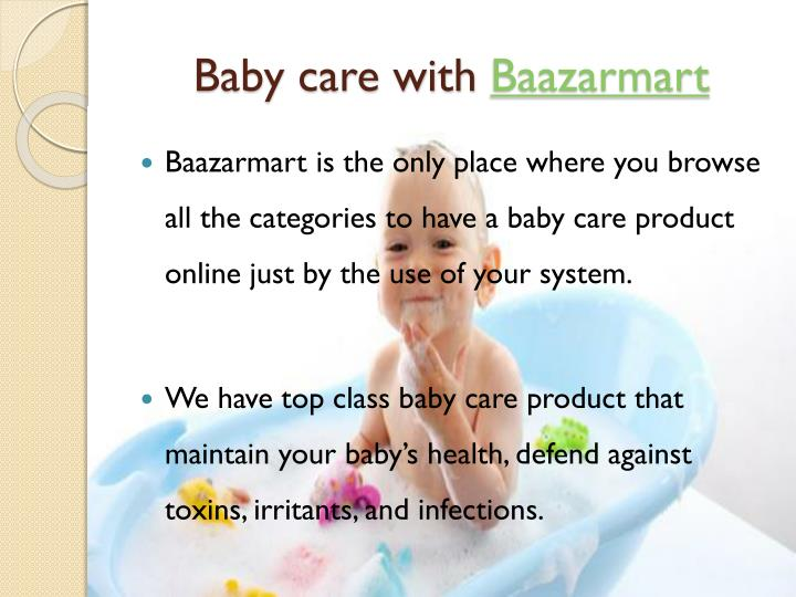 Baby care with baazarmart