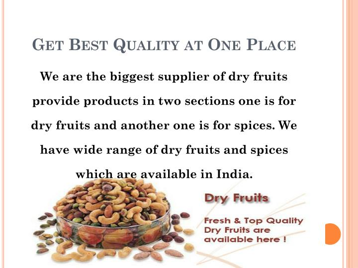 Get Best Quality at One Place