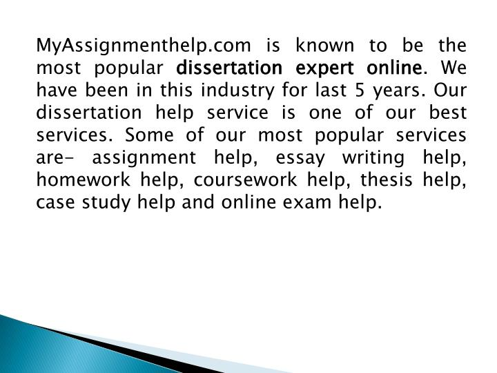 MyAssignmenthelp.com is known to be the most popular