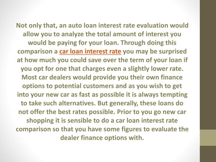 Car Loan Rate: Compare Car Loan Interest Rates And Save Money
