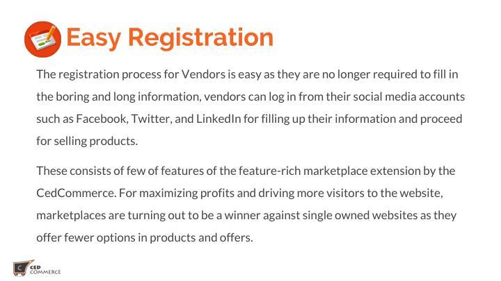 5 . Easy Registration