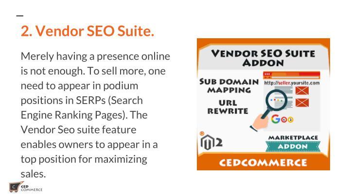 2. Vendor SEO Suite.