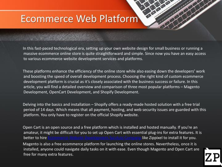 Ecommerce Web Platform
