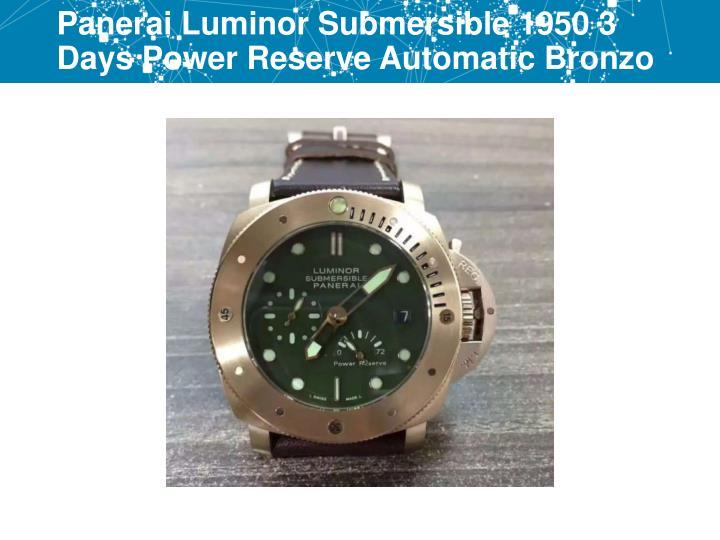 Panerai Luminor Submersible 1950 3 Days Power Reserve Automatic Bronzo