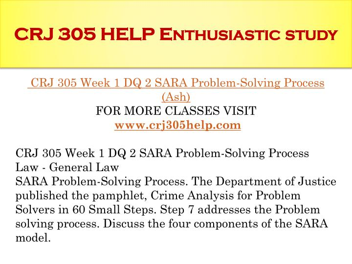 Police Work: What Is the SARA Model?