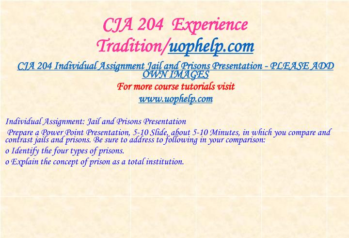 Cja 204 experience tradition uophelp com2