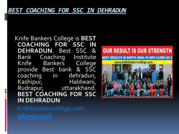 BEST COACHING FOR SSC IN DEHRADUN