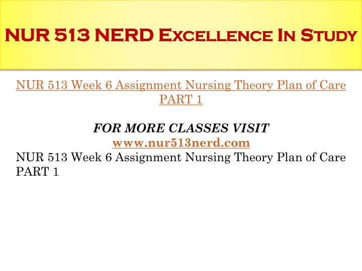 nursing theory plan of care nurs 513 Nurs 513 research and theory i 40 credits  nurs 541 asd ii: health and  behavioral care planning and intervention for children and adolescents 30.