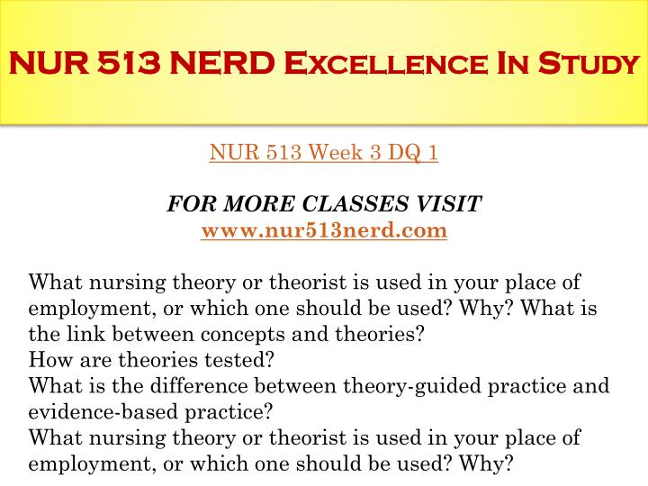 nur 513 concept comparison and analysis across theories paper Selected papers from the 1st international nurse education publishing papers which contribute to the advancement of educational theory and pedagogy that support the evidence-based practice qualitative content analysis in nursing research: concepts, procedures and measures to.