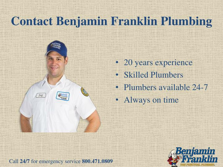 Contact Benjamin Franklin Plumbing