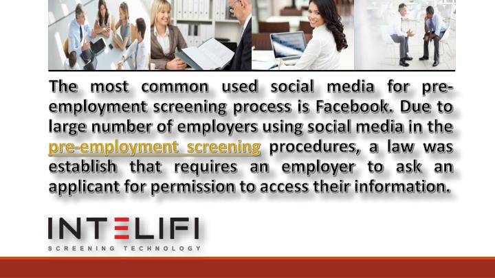 ppt social media as a pre employment screening tool