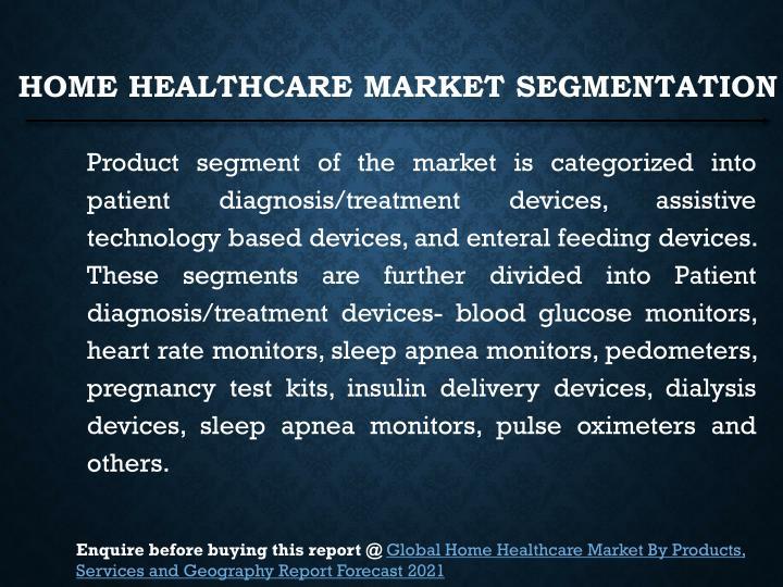 Home Healthcare Market Segmentation