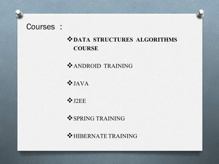Data structures algorithms course in bangalore uttara