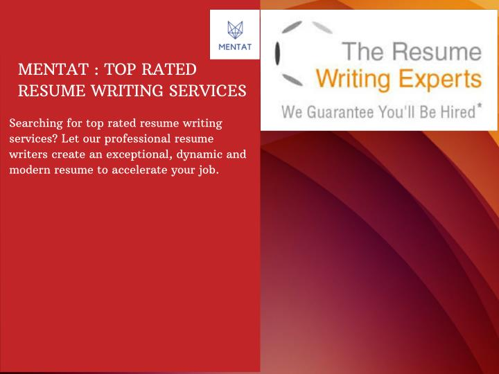 Top rated resume writing services
